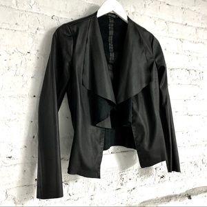 ZARA faux black leather jacket XS